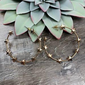 Made Of Stars Hoop Earrings - Gold
